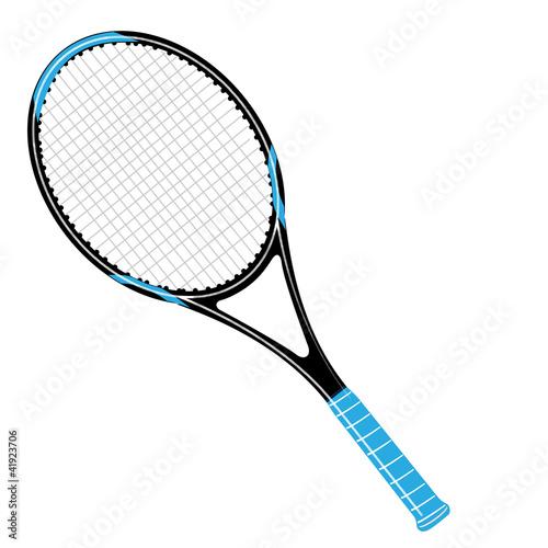 Tennisschläger schwarz / blau