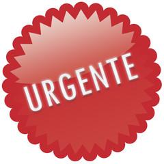 """Palavra """"urgente"""" - carimbo vermelho com palavra em relevo"""