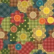 seamless patchwork background with flowers