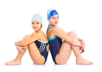 Young swimmer girls
