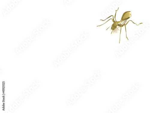 3d golden ant