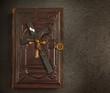 Old bibel with The Cross
