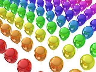 Rainbow ballons