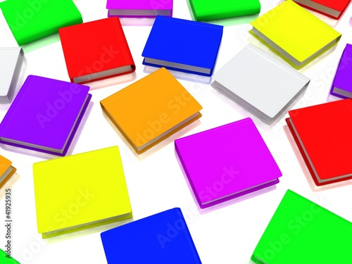 Colorfull books background