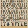 Rubber stamp outline halftone typeset