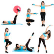 Collection of women working out