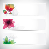 flowers motive banners background