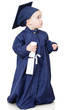 Boy in graduting gown