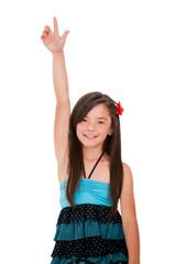 Girl rising her hand