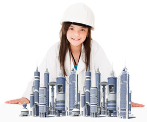 Girl architect