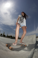 girl in skatepark