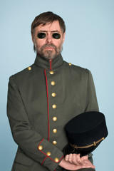 man in uniform of military officer