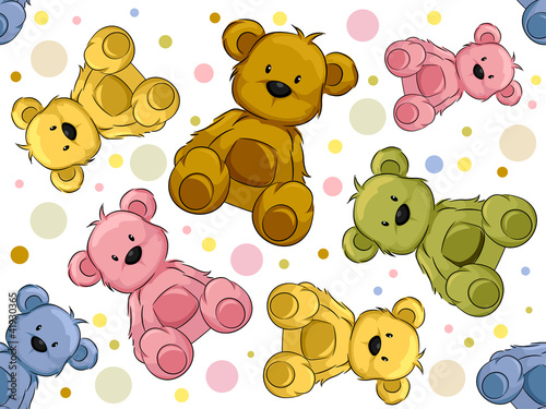 Seamless Teddy Bears