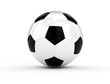 Soccer ball on white background