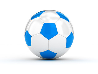 Soccer ball blue and white