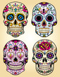 Day of the dead vector illustration set - 41931152