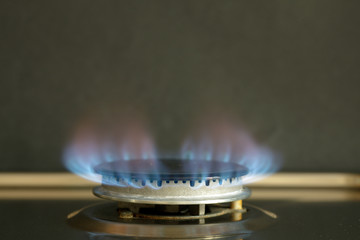 Flames of gas stove