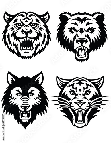 Animal Mascot Logo Vector Set