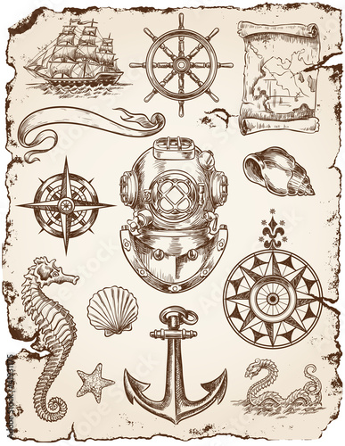 Nautical Vector Illustration Set - 41931175