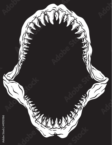 Shark Jaw Isolated Vector Illustration
