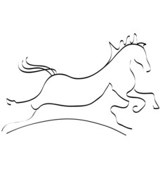 Stylized horse and dog logo vector