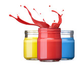 ink in primary colors