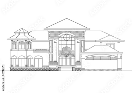 Modern House Sketch Stock Photo And Royalty Free Images