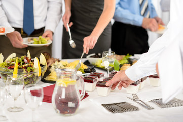 Business catering food for company celebration