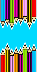 Background with crayons