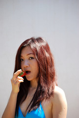 Asian girl with the strawberry1