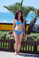 Asian girl of the palm trees1