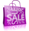 Serie: Einkaufstasche SALE lila