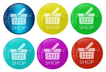 Shop web button colored set