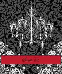 Invitation Card Design With Chandelier