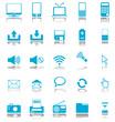 Multimedia Symbol blau mit Schatten