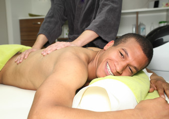 wellness - massage - man getting a massage