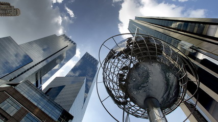Columbus Circle in NYC Day to Night
