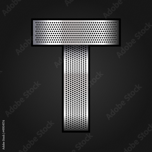 Letter metal chrome ribbon - T