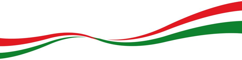 Italien Fahne Flagge Farben Welle Schwung m it QXP9 Datei
