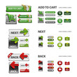 shopping cart, next and back icons / collection of vector icons