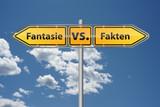 Fantasie versus Fakten poster