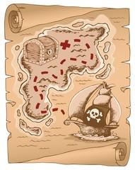 Parchment with treasure map 1 © Klara Viskova