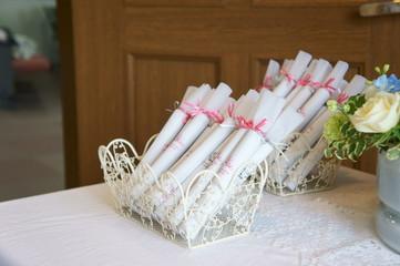 結婚式の贈り物