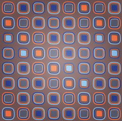 Colorful Retro Squares Seamless Pattern