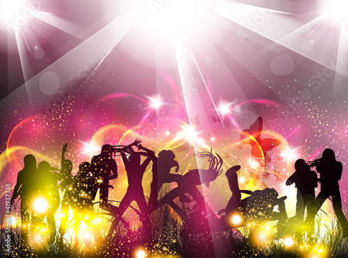 Party color light illustration