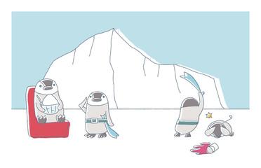 ペンギンとかき氷