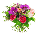 Fototapety bouquet of rose, paeonia and orchid