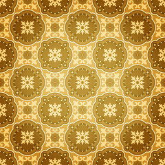 Golden Seamless Wall Pattern