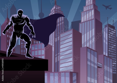 Superhero on Roof