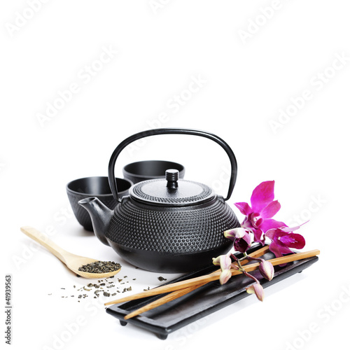 Tea pot and chopsticks